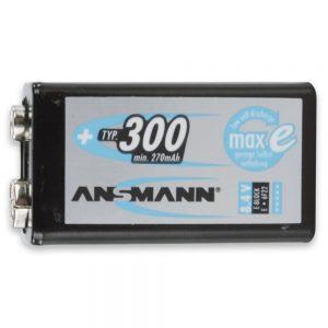 Ansmann MaxE - 1x 9V PP3 NiMH 300mAh Battery