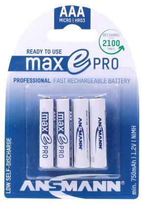 Ansmann MaxE Pro - AAA Rechargeable Batteries (Pk 4)