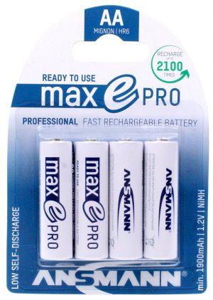 Ansmann MaxE Pro - AA Rechargeable Batteries (Pk 4)