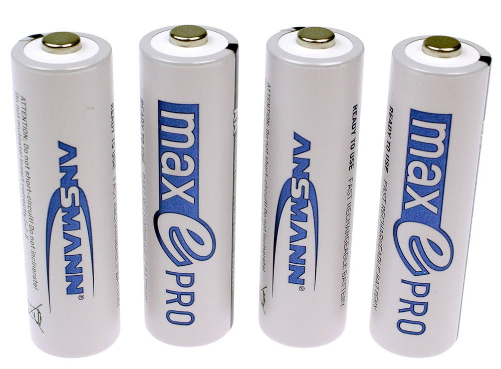 8x maxE PRO Rechargeable AA Batteries Powerline 4 Light Battery Charger