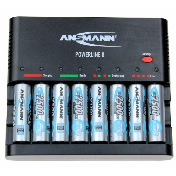 Ansmann Powerline 8 (including 8 x maxE batteries)
