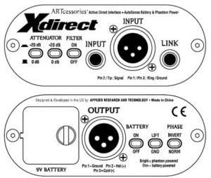 ART X-Direct active DI Box