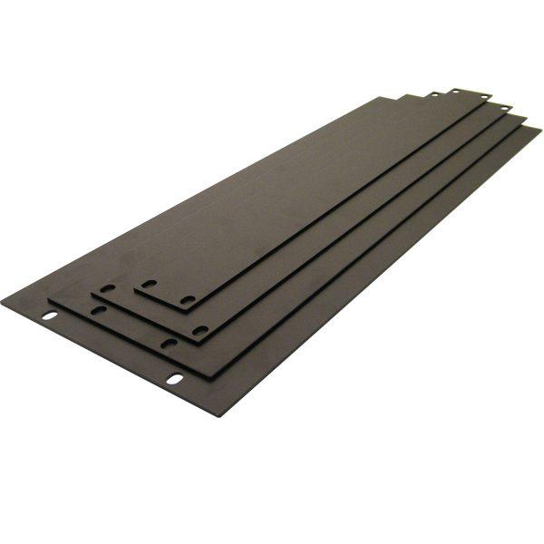 Penn Elcom 1U Steel Rack Panel, Black