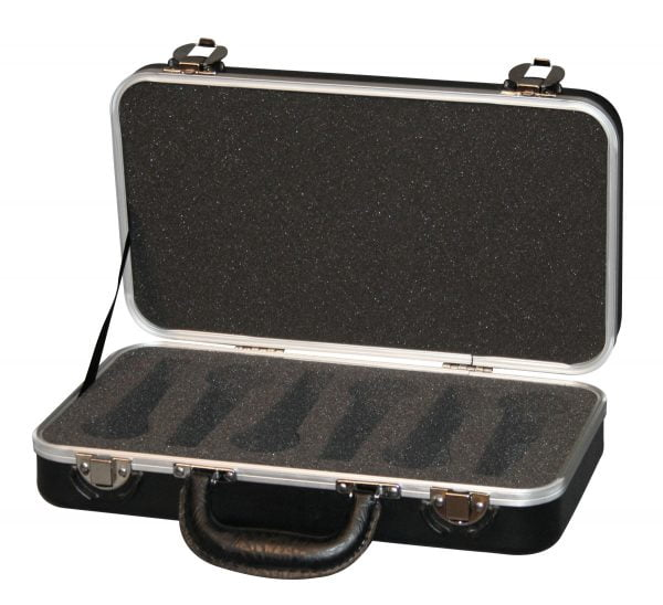 Gator GM-6 PE Plastic Mic case - 6 wired mics