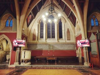 An audio visual installation earlier this year in Wiltshire.  #churchav #churchaudiovisual #churchinstall #avinstall
