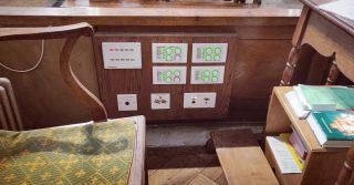 Discreetly installed custom panel with bespoke control.  #custominstall #churchaudiovisual #yamahamtx #crestron #churchinstall #martinaudiocdd
