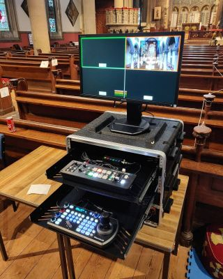 Whatever your live-streaming requirement is, our project managers will work with you to find the perfect solution!   Pictured is a portable multi-camera system which we installed in Wilton, Wiltshire towards the end of 2020.   Cameras - @bolintechnology  Vision mixer - @roland_uk Camera controller - @marshall_usa  Streaming encoder - #magewell  #livestream #livestreaming #church #av #pa #audiovisual #professional #bespoke #worship #roland #bolin #marshall #live #streaming #uk #broadcast #youtube #facebook #twitch #service #cathedral