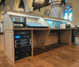 Church Audio Visual & Streaming Installation from earlier this year. Featuring another bespoke Church AV console.   #youcanneverhaveenoughspace #churchav #churchlivestreaming #churchaudio #churchaudiovisual #avconsole #livestreaming #allenandheathsq #martinaudiocdd