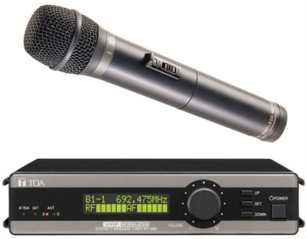 TOA 5000 Series True Diversity - Dynamic Vocal Mic